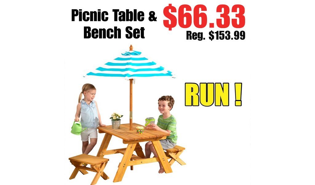 Picnic Table & Bench Set Just $66.33 on Walmart.com (Regularly $153.99)