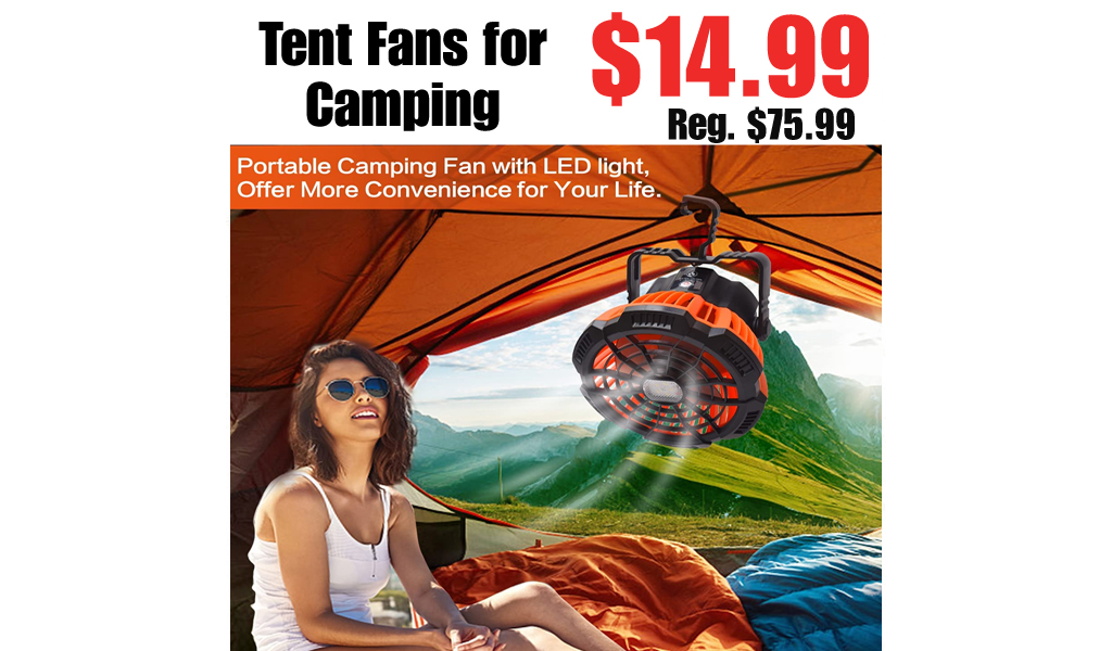 Tent Fans for Camping Only $14.99 Shipped on Amazon (Regularly $75.99)