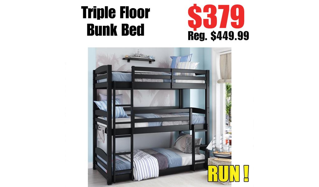 Triple Floor Bunk Bed Just $379.00 on Walmart.com (Regularly $449.99)