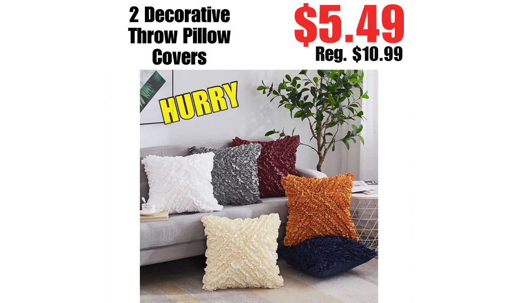 2 Decorative Throw Pillow Covers Only $5.49 on Amazon (Regularly $10.99)