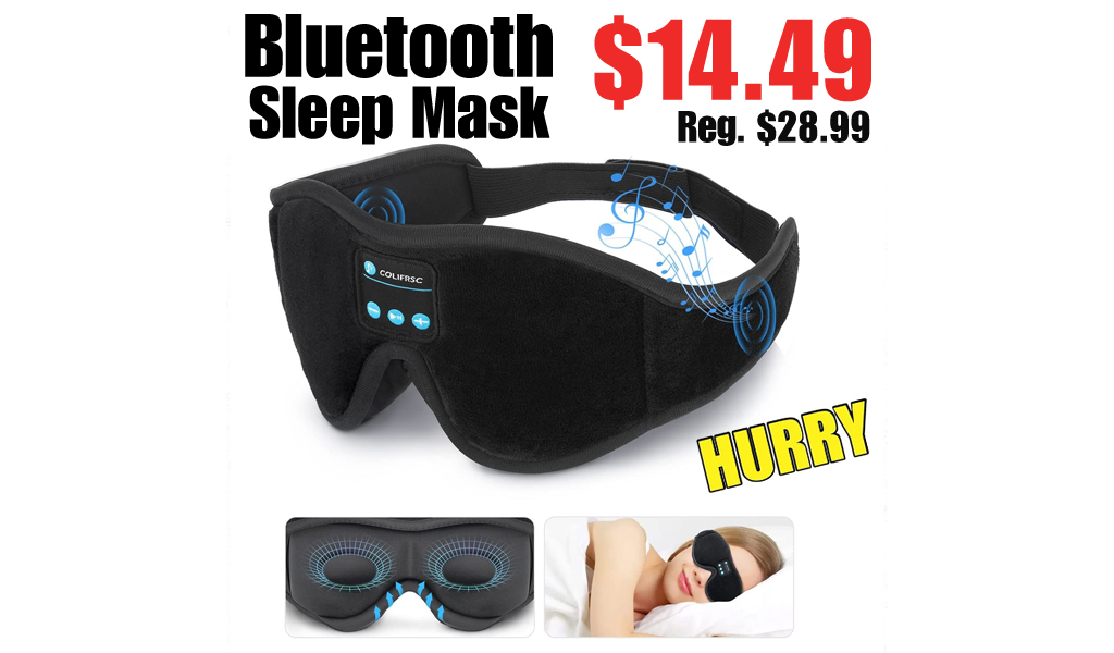 Bluetooth Sleep Mask Only $14.49 on Amazon (Regularly $28.99)