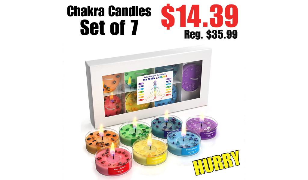 Chakra Candles Set of 7 Only $14.39 on Amazon (Regularly $35.99)