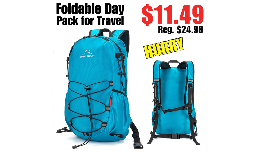 Foldable Day Pack for Travel Only $11.49 on Amazon (Regularly $24.98)