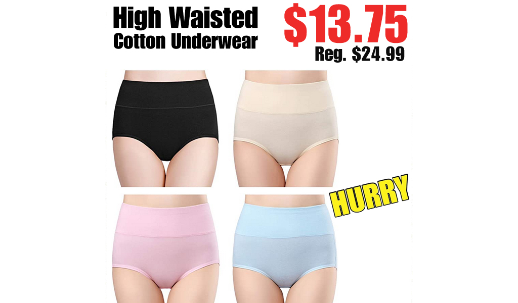 High Waisted Cotton Underwear Only $13.75 on Amazon (Regularly $24.99)