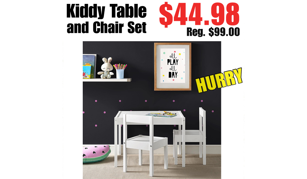 Kiddy Table and Chair Set Only $44.98 on Amazon (Regularly $99.00)