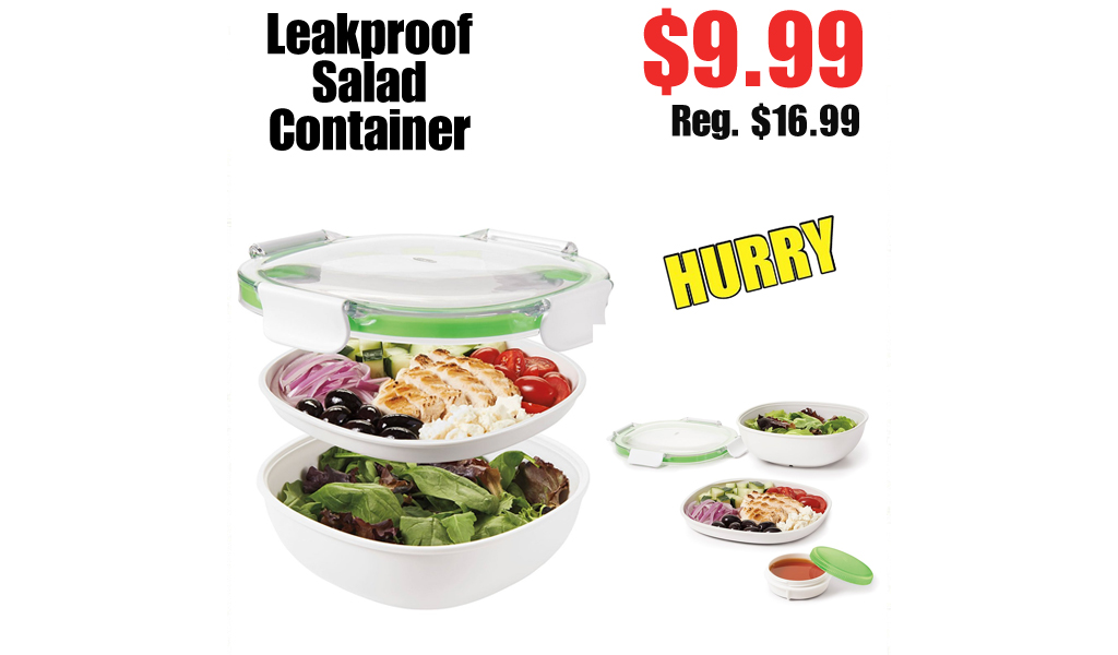 Leakproof Salad Container Only $9.99 Shipped on Zulily (Regularly $16.99)