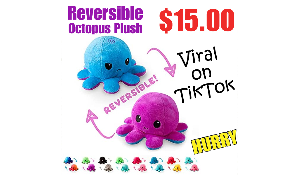 Reversible Octopus Plush Only $15.00 Shipped on Amazon