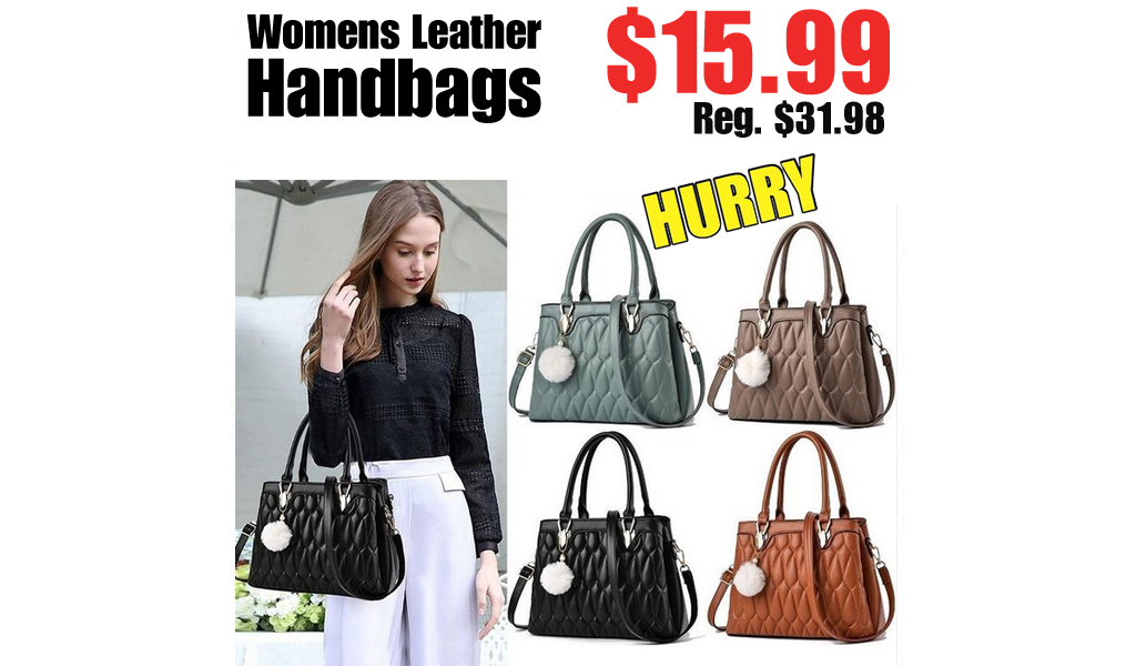 Womens Leather Handbags Only $15.99 on Amazon (Regularly $31.98)